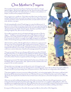 One Mother's Prayer Full Page versions IMAGE 2