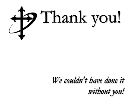Church donation thank you letter examples textpoems sample thank you notes for church volunteers roxicodone syrup altavistaventures Choice Image