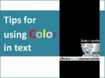 Video: Tips for using COLOR in text