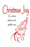 Christmas Booklet Cover or Half size Postcards#11
