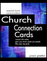Connection Card book by Yvon Prehn