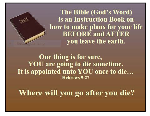 Gis Bible Basic Instructions Before Leaving Earth Gospel Tract Cards