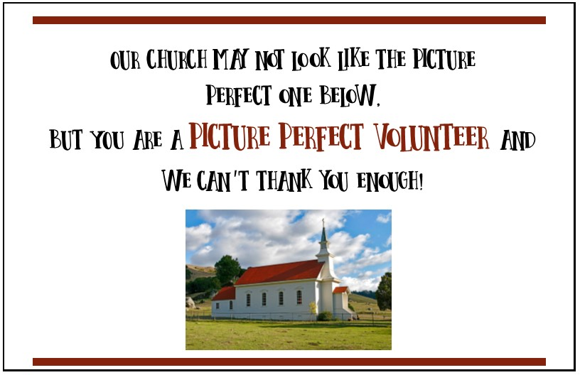 Picture Photo Frame-Thank You Gifts Christian Volunteers ... |Thank You Church Volunteers