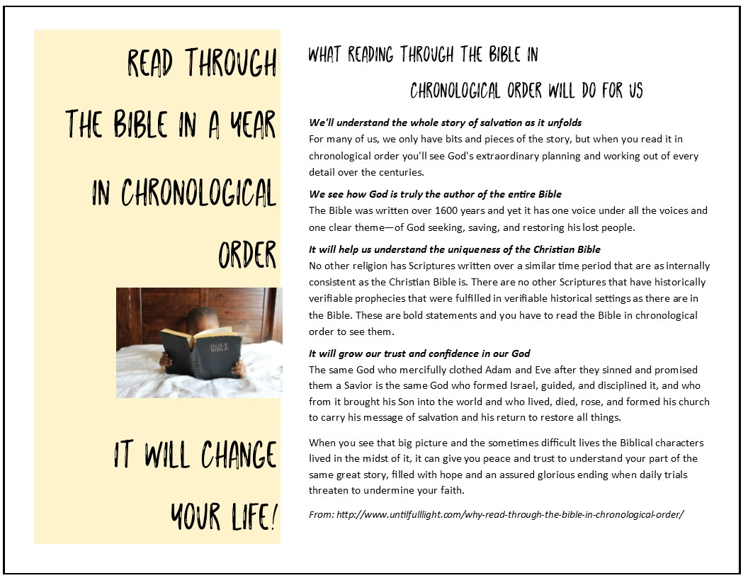 FREE Templates: Read through the Bible in a year—Templates