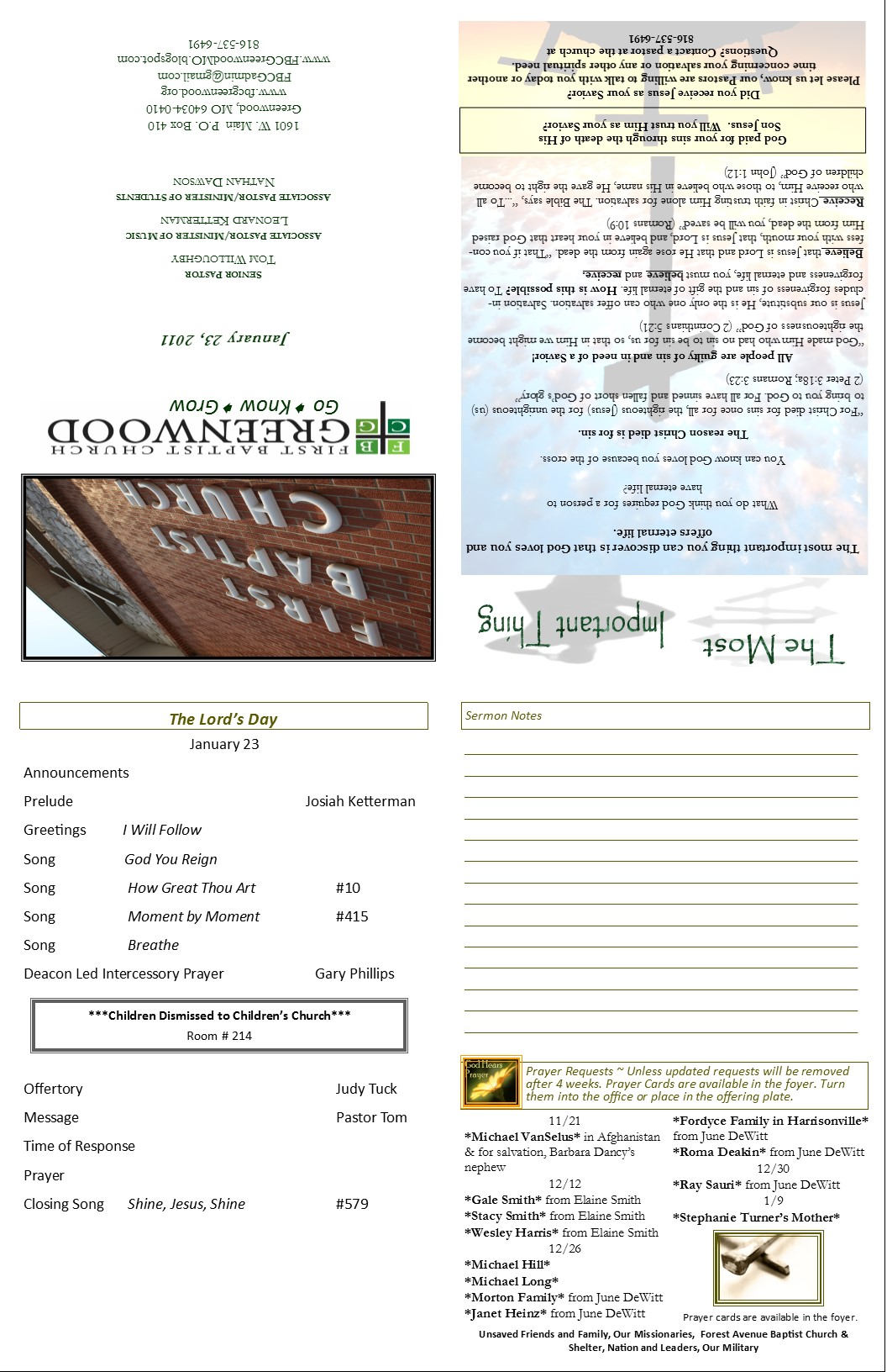 Church bulletin template for Free templates for church bulletins