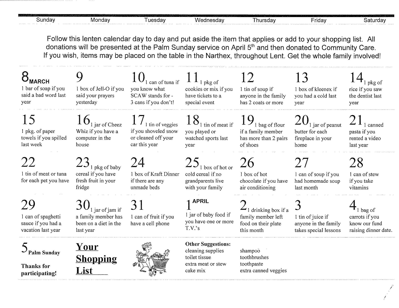 Lenten Calendar Ideas : Gis lenten ideas effective church communications