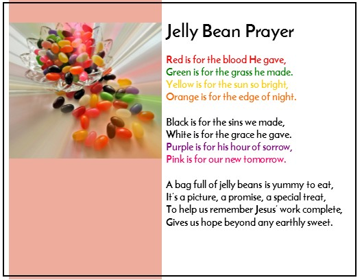 To The Jelly Bean Prayer File Click Following