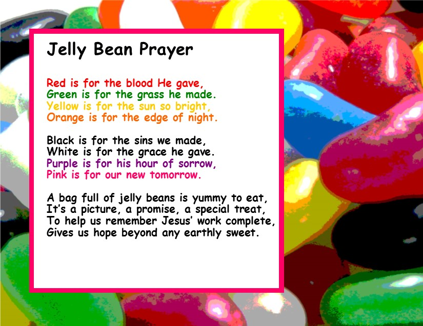 image regarding Jelly Belly Logo Printable called Totally free Easter Jelly Bean Prayer for Childrens Ministry