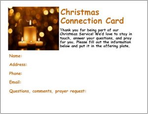 Christmas connection card