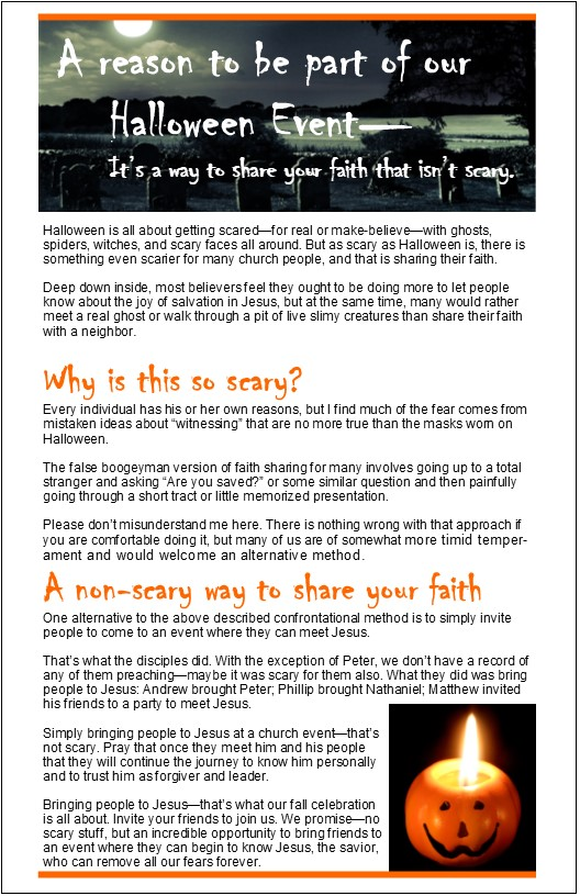 A Non Scary Way To Share Your Faith At Fall Festivals And