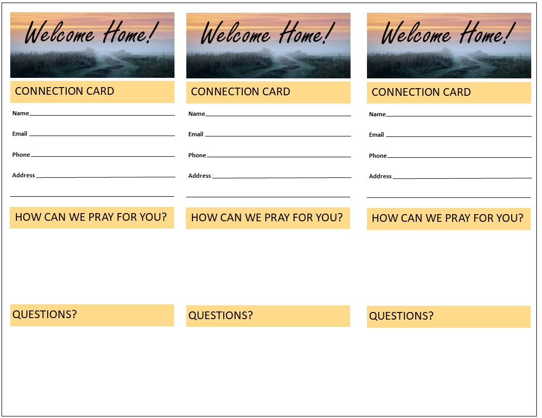 Church Connection Cards  Effective Church Communications For Church Visitor Card Template