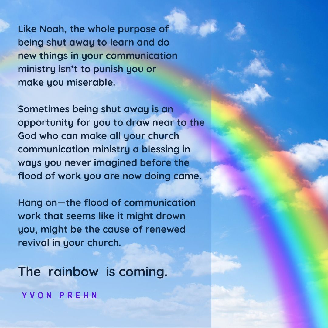 The rainbow is coming, an encouraging podcast