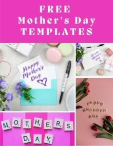 Mothers Day templates and resources